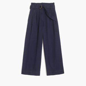 NWT J. Crew Wide-Leg Crop Pant with Belted Waist